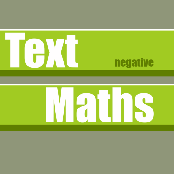 Text Maths Negative