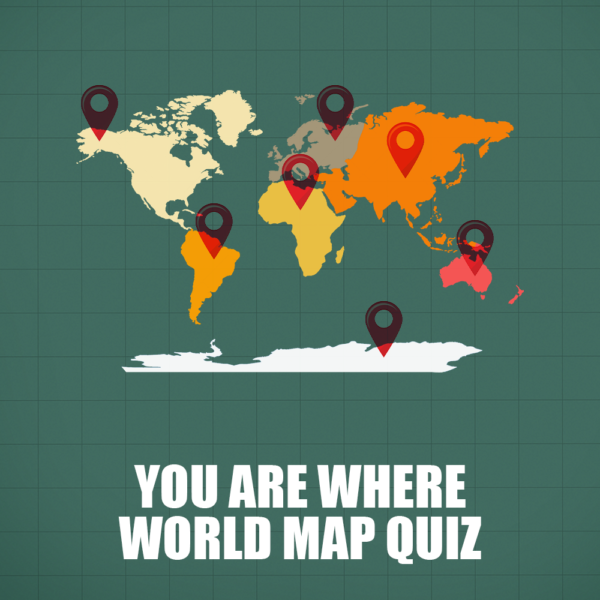 You Are Where World Map